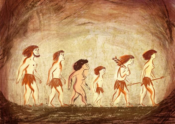 classe des mammouths-dessin préhistoire
