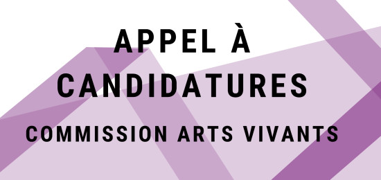 candidatures arts vivants