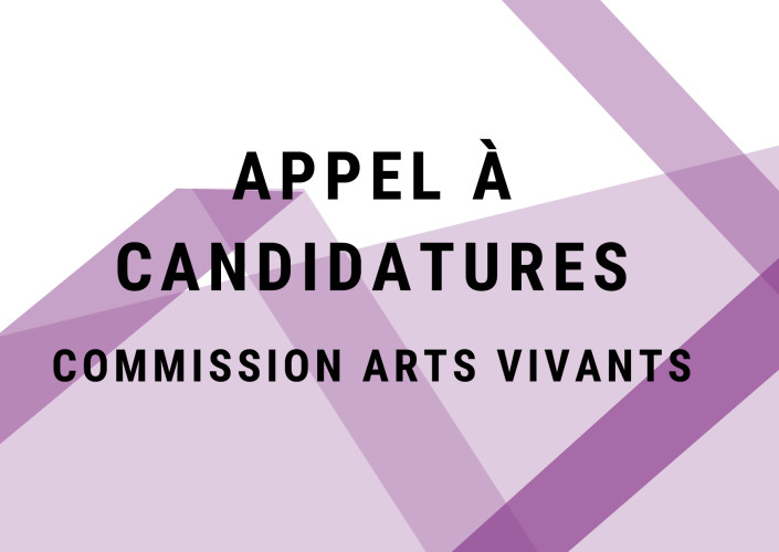 candidatures arts vivants